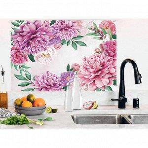 Наклейка виниловая для кухни «Пионы». интерьерная. 60 х 90 см