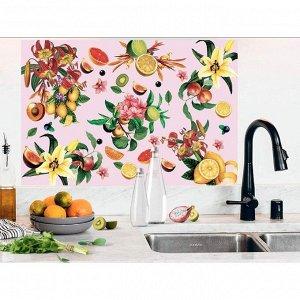 Наклейка виниловая для кухни «Фрукты», интерьерная, 60 х 90 см