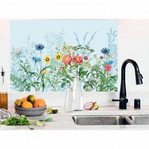 Наклейка виниловая для кухни «Полевые цветы». интерьерная. 60 х 90 см
