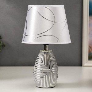 Лампа настольная 16193/1 E14 40Вт серый с серебром 20х20х33 см