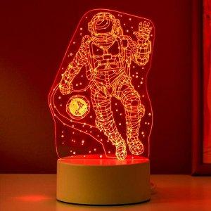 "Светильник ""Космонавт"" LED RGB от сети 9.5х10х21 см"
