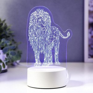 "Светильник ""Лев"" LED RGB от сети 9.5х13х18.9 см"