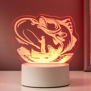 "Светильник ""Рыбак"" LED RGB от сети 9,5х13,5х15 см"