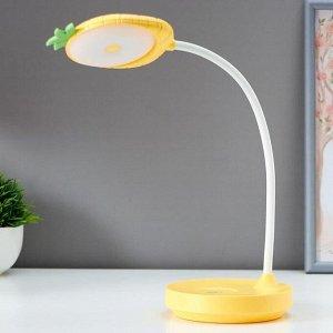 Лампа настольная сенсорная 16088/1 LED 3Вт 2 режима USB AKB желтый 12х12х42 см