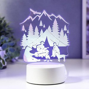 "Светильник ""Туризм"" LED RGB от сети 9,5х13х18 см"