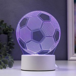 """Светильник """"Футбольный мяч"""" LED RGB от сети 9,5x12,5x16 см"""