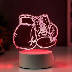 """Светильник """"Боксерские перчатки"""" LED RGB от сети"""