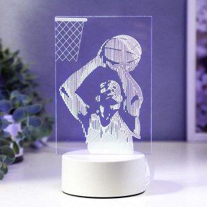 """Светильник """"Баскетбол"""" LED RGB от сети 9.5х11х20 см"""