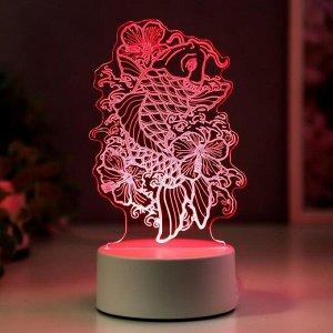 """Светильник """"Золотая рыбка"""" LED RGB от сети 9.5х11х19 см"""