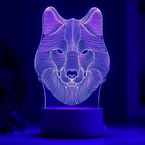 """Светильник """"Волк"""" от сети 9.5x11.5x20 см"""