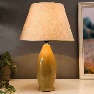 Лампа настольная 16003/1 E14 40Вт бежевый 25х26х45 см