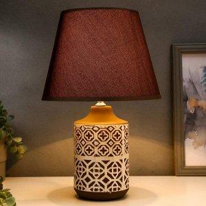 Лампа настольная 16009/1 E14 40Вт бело-шоколадный 24х24х40 см