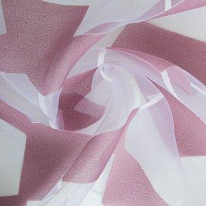 """Тюль """"Этель"""" Абстракция (цвет лиловый) без утяжелителя. ширина 250 см. высота 270 см"""