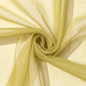 Тюль «Этель» 280?270 см. цвет оливковый. вуаль. 100% п/э