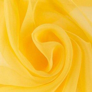 """Тюль """"Этель"""" 145*270 цв. жёлтый. вуаль. 100% п/э"""
