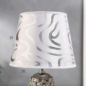 Лампа настольная 36650/1 E14 40Вт белый-серебро H32.5 см