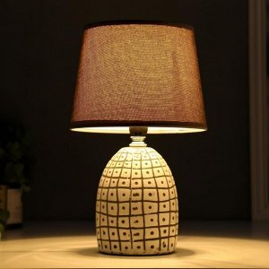 Лампа настольная 16235/1 E14 40Вт бело-серый 20х20х30 см