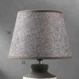 Лампа настольная 16236/1 E14 40Вт бело-серый 24.5х24.5х38 см