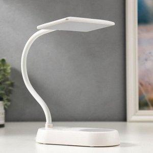 Лампа настольная с ночником 16285/1 54хLED 6Вт АКБ USB белый 17х18х39 см