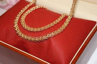 Дубайское золото - роскошно и изысканно — Комплекты цепь + браслет — Наборы