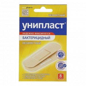 Лейкопластырь Унипласт бактерицидный незаметный набор 8 шт 1,9 х 7,2 см