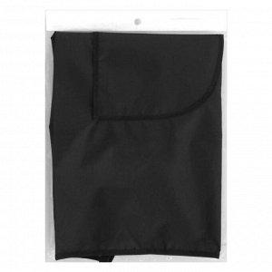 Фартук для мастера, двусторонний, 59 ? 76 см, цвет чёрный