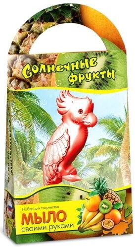 """Развивашки.С0203 Мыло своими руками """"Солнечные фрукты"""" с формочкой попугай"""