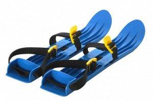 Лыжи детские пластмассовые, с ремешками, 39см