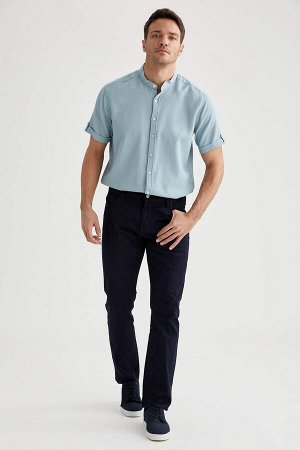 брюки Размеры модели: рост: 1,89 грудь: 100 талия: 81 бедра: 97 Надет размер: размер 32 - рост 32  Хлопок 98%,Elastan 2%