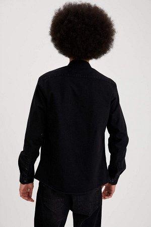 рубашка Размеры модели: рост: 1,87 грудь: 95 талия: 73 бедра: 93 Надет размер: M  Хлопок 100%