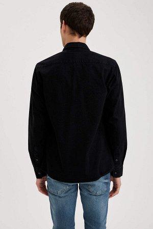 рубашка Размеры модели: рост: 1,88 грудь: 90 талия: 79 бедра: 89 Надет размер: M  Хлопок 100%