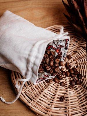 МЕШОЧКИ Состав: 100% лен Подарочный мешочек.                                   Мешочки сшиты из плотной льняной ткани. Содержат затягивающиеся завязки, с помощью которых можно легко завязать мешочек.