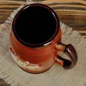 """Пивной бокал """"Танк"""", цвет темно-коричневый, 0.6 л"""
