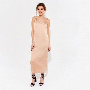 Платье женское MINAKU цвет кофе, р-р 42