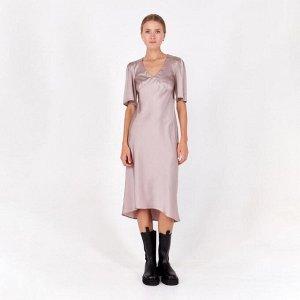 Платье женское MINAKU: Silk Pleasure цвет кофейный, р-р 42