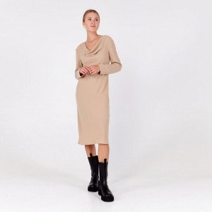 Платье женское MINAKU: Green trend цвет цвет бежевый, р-р 42