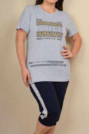 Пижамы для женщин большой размер ( с бриджами/с футболкой) 26011