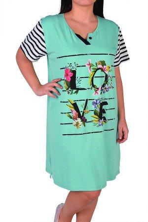 Сорочки для женщин большой размер ( короткий рукав) 84243