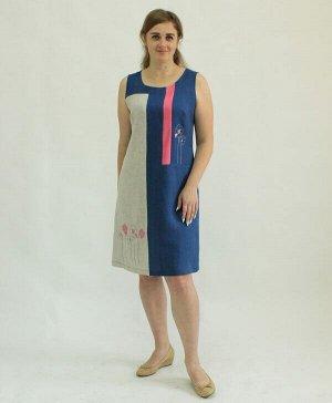 Платье У 516-16 Лён 100% (цвета в описании!!!)
