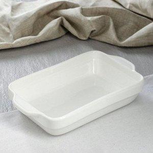 Противень для запекания керамический, белый, 28 см х 17 см х 6 см