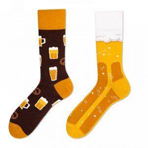 Асимметричные носки рисунок Пиво