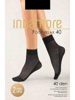 Полупрозрачные эластичные капроновые носки 40 ден с массажным следом