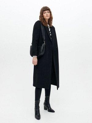 Классическое пальто из полушерстяной ткани