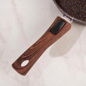 Сковорода Granit ultra red, со съемной ручкой, стеклянной крышкой, d=26 см