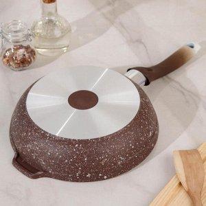 Сковорода ELITE STONE, d=22 см, с ручкой