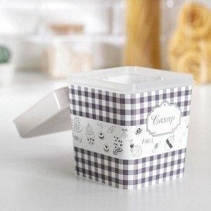 Ёмкость Альтернатива «плетёнка. Сахар», 1,2 л, с ложкой