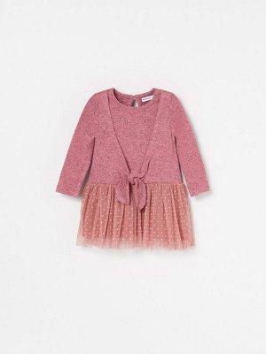 Платье из комбинированных материалов