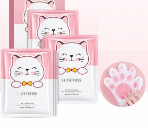Восстанавливающая маска-перчатки для рук Luofmiss Nicotinamide Goat Milk 35 g (упаковка 3 штуки)
