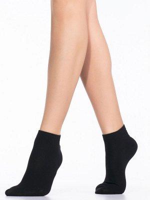 Укороченные хлопковые женские носки с комфортной широкой резинкой