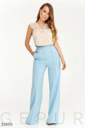 Классические голубые брюки Gepur